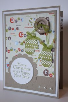 The Pursuit of Stampin'ess: Make a mitten Christmas card by Stampin Up and me