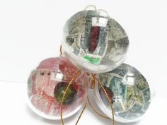 3 Steampunk Christmas bauble decorations - stamp decorations - steampunk ornament - tree decoration - rustic decoration - steampunk decor