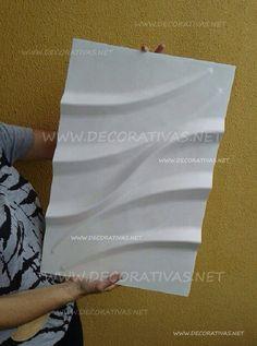 Placa de gesso feita com formas de silicone da Decorativas. Modelo 11 em medida 55 x 37 cm