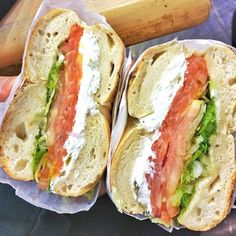 You know it's going to be good if your bagel sandwich is bigger than your head and has a thicker layer of cream cheese than vegetables