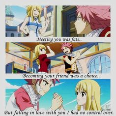 Fairy tail. i think they make a cute couple. :)