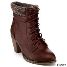 ANNA MEL-12 Women's Chunky Heel Ankle Boots - Overstock™ Shopping - Big Discounts on Booties