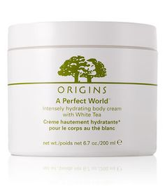 Best body lotion I've ever found and it smells amazing! Origins A Perfect World Body Cream with White Tea