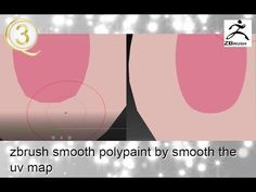 Zbrush smooth polypaint by smooth the uv map - YouTube