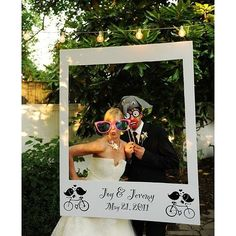 Laugh out loud funny! Love this awesome mock Polaroid frame and fun props. Photo via #BrookeKellyPhotography