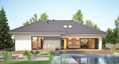 House Plans Mansion, My House Plans, Bungalow House Plans, Simple House Plans, Beautiful House Plans, Home Building Design, Building A House, House Outside Design, House Design