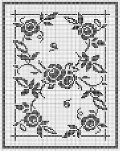 Kira scheme crochet: Scheme crochet no. Doily Patterns, Embroidery Patterns, Crochet Patterns, Crochet Lace Edging, Crochet Doilies, Cross Stitch Rose, Cross Stitch Flowers, Crochet Sunflower, Filet Crochet Charts