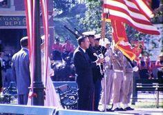 Disneyland Dedication Speech, July 1955 by Donald Ballard on SoundCloud Disneyland Opening Day, Vintage Disneyland, Old Disney, July 17, Vintage Pictures, American Flag, Fair Grounds, Waves, History