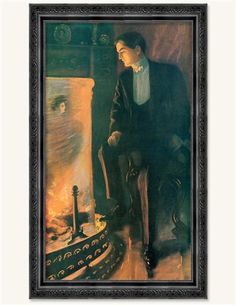 Firelight Fancies Framed Print (He) from Victorian Trading Co.