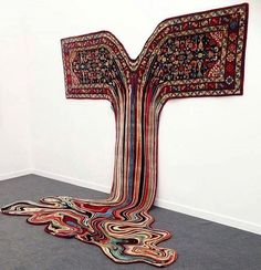 Found via @ratedmodernart  Dripping rug installation by Faig Ahmed.  Follow  Like  Comment  by thednalife