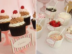 Icecream cupcakes very cute indeed!! The food ideas associated with this party theme are endless!!
