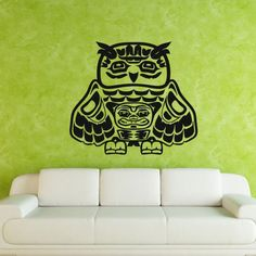 Wall Decal Art Decor Decals Sticker Owl Bird Cub Family Room Amulet (M214) DecorWallDecals http://www.amazon.com/dp/B00FVWLF60/ref=cm_sw_r_pi_dp_f.lYub051Q9WW