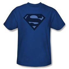 Superman Blue Shield Mens T-Shirt