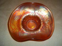 Antique Fenton Glass Carnival Holly Hat Vase by MysticSpiritShoppe, $30.00