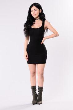One of the Boys Dress - Black