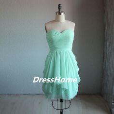 Short Mint Bridesmaid Dress. Love love love!