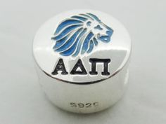 Enamel Alpha Delta Pi Lion Greek Sorority European Big Hole Bead B684 | eBay