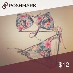 OP String Bikini Floral OP Floral String Bikini. Top and bottom are large OP Swim Bikinis