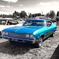 One of our favourite cars, and it looks truly divine in this photo! - Chevrolet Chevelle Sky Blue!
