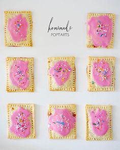 I promise you, one taste of these easy homemade strawberry poptarts and you& never go storebought again Yummy Treats, Sweet Treats, Yummy Food, Brunch, Pop Tarts, Recipe Of The Day, Kids Meals, Cooking Recipes, Bread Recipes