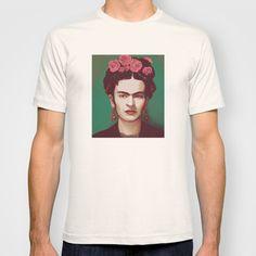 Frida+T-shirt+by+Ravynka+-+$22.00