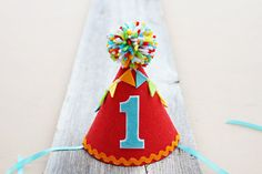 Boys 1st Birthday Party Hat  Boys Felt Carnival by LaLaLolaShop, $19.50