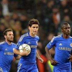 Oscar, Chelsea.   Shakhtar 2-1 Chelsea. 23.10.12.