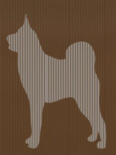Cut And Fold Book folding pattern of an Akita by BookArtCo on Etsy