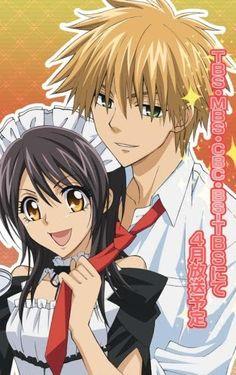 Misaki and Usui from Maid sama