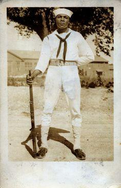 WWII Sailor, 1940's  [Black Soldier Series]  ©WaheedPhotoArchive, 2012