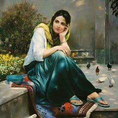جمال النساء في لوحات فنية رائعة Beautiful Paintings women   لوحات فنية عالمية world painting