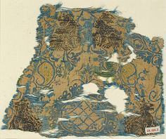 Brocade Textile Date: 14th century Geography: Made in Lucca (?), Italy Culture: North Italian Medium: Silk and metal thread Accession Number: 28.180.2