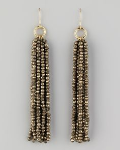 Nest Beaded Tassel Earrings - Neiman Marcus