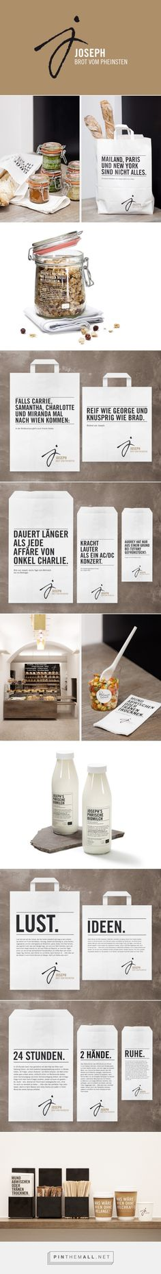 Martin Dvorak, Agentur für Gestaltung packaging branding for Joseph Brot curated by Packaging Diva PD. Wouldn't you like to try out this bakery? Delish.