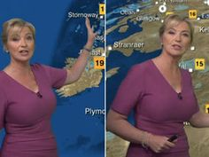 Carol Kirkwood puts on a busty display as she delivers weather in plunging purple dress Sexy Older Women, Classy Women, Hottest Weather Girls, Carol Vordeman, Carol Kirkwood, Female News Anchors, Amazing Women, Beautiful Women, Newscaster