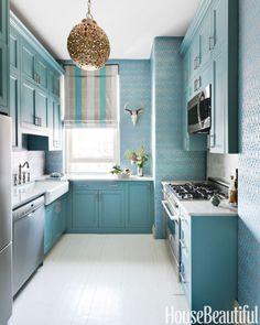 Home Decorating Ideas Kitchen Designs Paint Colors - House Beautiful & 93 Best POP OF COLOR images | Modern kitchens Kitchens Kitchen dining