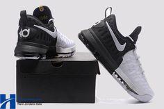 size 40 491f0 2f130 2017 Nike KD 9  BHM  Black Metallic Gold-White Men s Basketball Shoes