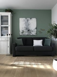 Ich habe ein The Basics of the Murphy Bed Plan Article Body: As l Living Room Accents, Home Accents, Sage Living Room, Green Wall Color, Interior Decorating, Interior Design, Balcony Design, Scandinavian Interior, Room Decor Bedroom