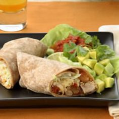 Shredded Turkey and Pinto Bean Burritos   Check out this recipe on Better Eats