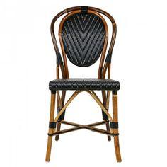 Black Mediterranean Bistro Chair (L)