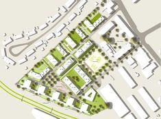 Aachen Campus West – Wohnen und Leben in einem Hochschulquartier 1. Preis: Lageplan, © pbs architekten