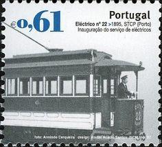 Stamp: Urban Public Transport - Base issue (Portugal) (Transportation (Rail)…