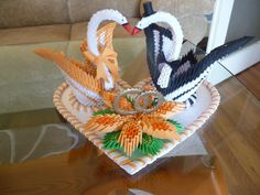 wedding swans.JPG… | Album | kaleia | 3D Origami Art