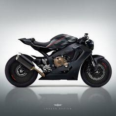 by Jakusa Design via ArtStation Gs 500 Cafe Racer, Custom Cafe Racer, Cafe Racer Bikes, Cafe Racers, Concept Motorcycles, Ducati Motorcycles, Honda Bikes, Custom Motorcycles, Bike Bmw
