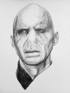 My favourite villain of all time! 2nd ballpoint drawing ever! I'm loving this new technique, though it does look much better in person. About an hour so far, normal biro on sketch pad paper.