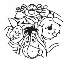 Image Svg, Winnie The Pooh Nursery, Disney Designs, Cricut Creations, Vinyl Projects, Cricut Design, Machine Embroidery Designs, Coloring Pages, Quilling
