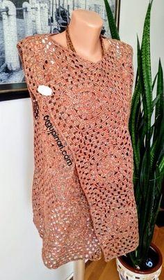 SALAŞ YELEK – Örgü Pınarı High Street Fashion, Street Style, Moda Harajuku, Cape Pattern, Crochet Shirt, Unique Recipes, Knitting Stitches, Long Cardigan, Knit Patterns