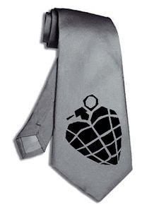 green day band logo DIY silver grey necktie neck tie