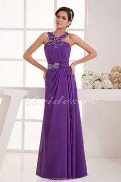 Bridesire - A-Linieholder bodenlang ärmellos Chiffon Kleid [BD41351] - €101.20 : Bridesire