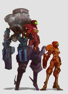 Samus Aran, Heavy Combat Version by cobaltplasma.deviantart.com on @DeviantArt